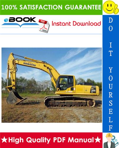 Thumbnail ☆☆ Best ☆☆ Komatsu PC300LC-7E0, PC300HD-7E0 Hydraulic Excavator Service Repair Manual + Operation & Maintenance Manual