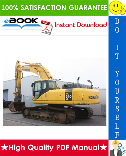 Thumbnail ☆☆ Best ☆☆ Komatsu PC340LC-7K, PC340NLC-7K Hydraulic Excavator Service Repair Manual + Operation & Maintenance Manual (Serial Number: K40001 and up)