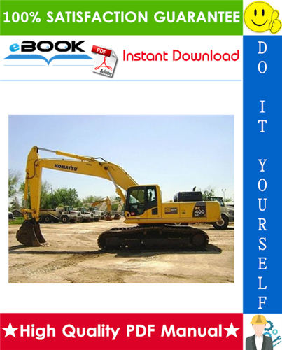 Thumbnail ☆☆ Best ☆☆ Komatsu PC400LC-8 Hydraulic Excavator Service Repair Manual + Operation & Maintenance Manual (Serial Number: A88001 and up)