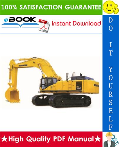 Thumbnail ☆☆ Best ☆☆ Komatsu PC750-7, PC750SE-7, PC750LC-7, PC800-7, PC800SE-7 Hydraulic Excavator Service Repair Manual + Field Assembly Manual + Operation & Maintenance Manual