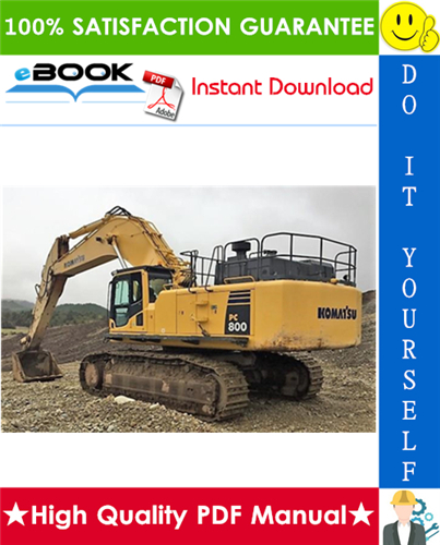 Thumbnail ☆☆ Best ☆☆ Komatsu PC800-8, PC800LC-8, PC800SE-8, PC850-8, PC850SE-8 Hydraulic Excavator Service Repair Manual + Field Assembly Manual + Operation & Maintenance Manual