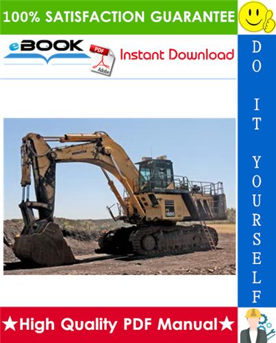 Thumbnail ☆☆ Best ☆☆ Komatsu PC1800-6 Hydraulic Excavator Service Repair Manual + Field Assembly Manual + Operation & Maintenance Manual