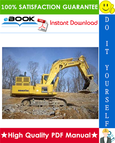 Thumbnail ☆☆ Best ☆☆ Komatsu PC2000-8 Hydraulic Excavator Service Repair Manual + Field Assembly Manual + Operation & Maintenance Manual (Serial Number: 20001 and up)