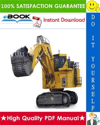 Thumbnail ☆☆ Best ☆☆ Komatsu PC3000-6 Hydraulic Mining Shovel Service Repair Manual + Operation & Maintenance Manual
