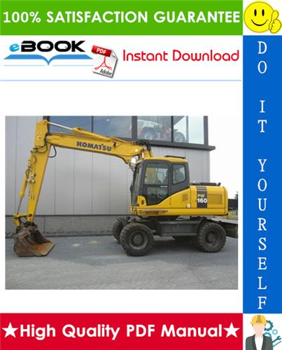 Thumbnail ☆☆ Best ☆☆ Komatsu PW160-7H Wheeled Excavator Service Repair Manual + Operation & Maintenance Manual (Serial Number: H50051 and up)