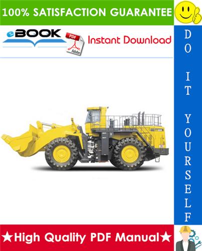 Thumbnail ☆☆ Best ☆☆ Komatsu WA800-3E0, WA900-3E0 Wheel Loader Service Repair Manual + Field Assembly Manual + Operation & Maintenance Manual