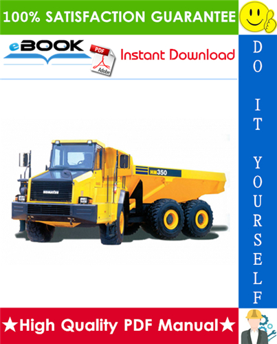 Thumbnail ☆☆ Best ☆☆ Komatsu HM350-2 Articulated Dump Truck Service Repair Manual + Operation & Maintenance Manual (Serial Number: A11001 and up)
