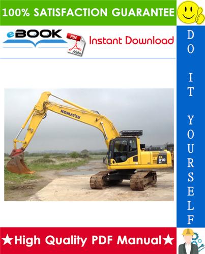 Thumbnail ☆☆ Best ☆☆ Komatsu PC210-8, PC210LC-8, PC210NLC-8, PC230NHD-8, PC240LC-8, PC240NLC-8 Hydraulic Excavator Service Repair Manual + Operation & Maintenance Manual