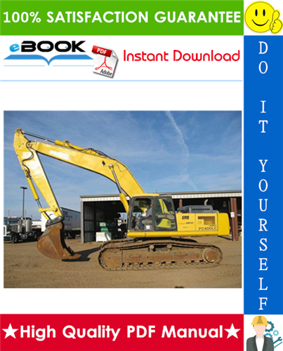 Thumbnail ☆☆ Best ☆☆ Komatsu PC400-8, PC400LC-8, PC450-8, PC450LC-8 Hydraulic Excavator Service Repair Manual + Operation & Maintenance Manual (Serial Number: 70001 and up)