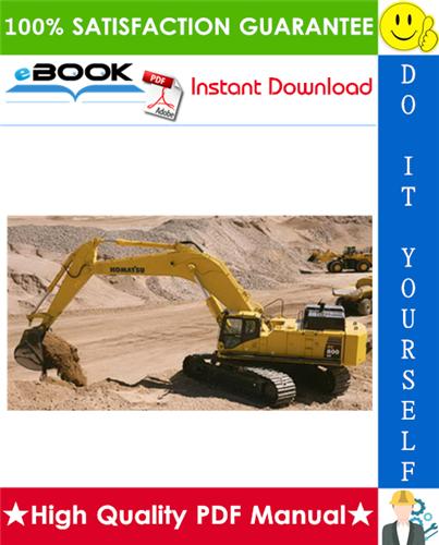 Thumbnail ☆☆ Best ☆☆ Komatsu PC800-8E0, PC800LC-8E0, PC800SE-8E0, PC850-8E0, PC850SE-8E0 Hydraulic Excavator Service Repair Manual + Operation & Maintenance Manual + Field Assembly M