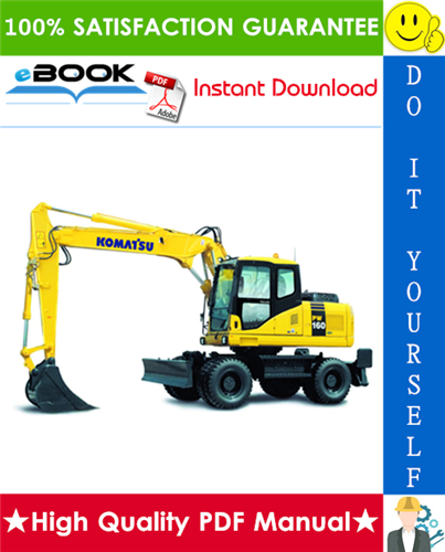 Thumbnail ☆☆ Best ☆☆ Komatsu PW160-7K Wheeled Excavator Service Repair Manual + Operation & Maintenance Manual (Serial Number: K40001 and up)