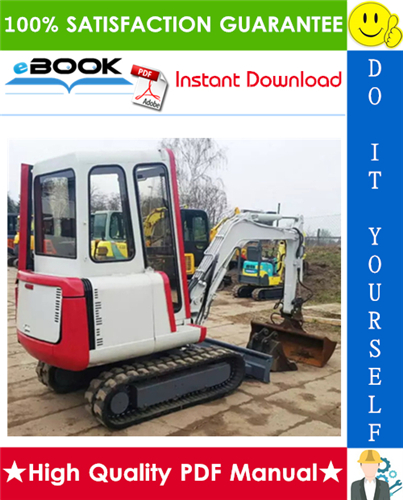 Thumbnail ☆☆ Best ☆☆ Takeuchi TB020 Compact Excavator Parts Manual