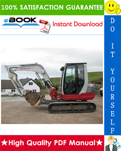 Thumbnail ☆☆ Best ☆☆ Takeuchi TB25, TB250 Compact Excavator Parts Manual