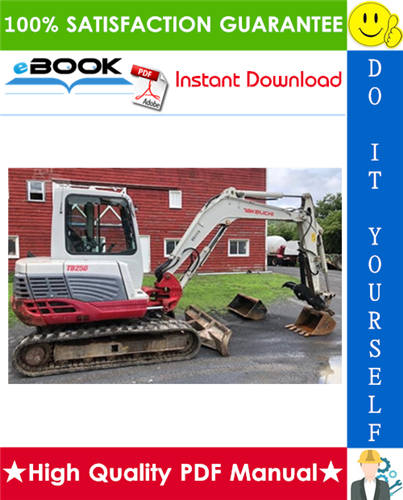 takeuchi tb25 tb250 compact excavator parts manual download