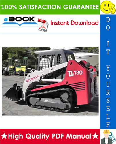 Thumbnail ☆☆ Best ☆☆ Takeuchi TL130 Crawler Loader Parts Manual (Serial No. 21300004-)