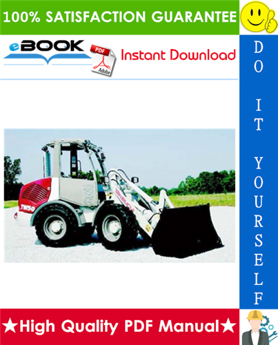 Thumbnail ☆☆ Best ☆☆ Takeuchi TW50 Wheel Loader Parts Manual (Serial No. E104063)