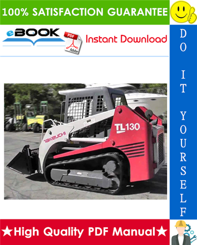 Thumbnail ☆☆ Best ☆☆ Takeuchi TL130 Crawler Loader Service Repair Manual