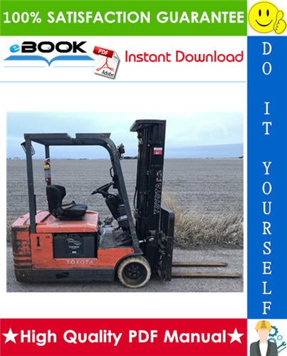 Thumbnail ☆☆ Best ☆☆ Toyota 5FBE10, 5FBE13, 5FBE15, 5FBE18, 5FBE20 Series Battery Forklift Trucks Service Repair Manual