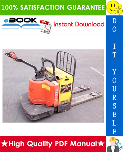 Thumbnail ☆☆ Best ☆☆ Toyota 6HBW30, 6HBE30, 6HBE40, 6HBC30, 6HBC40, 6TB50 Electric Pallet Truck Service and Parts Manual (Serial Number: 10011 and Up)