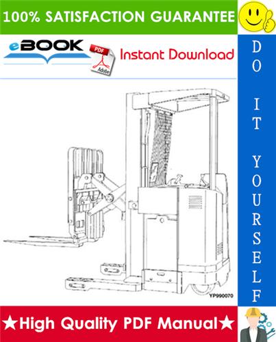 Thumbnail ☆☆ Best ☆☆ Yale NDR030GB, NR045GB (B861) Narrow Aisle Single Reach Lift Trucks Parts Manual