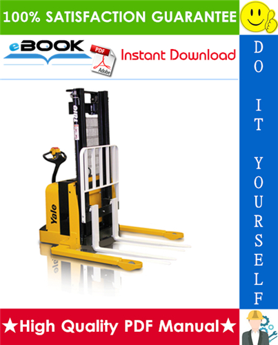 Thumbnail ☆☆ Best ☆☆ Yale MSW030E, MSW040E (C820) Walkie Straddle Stacker Service Repair Manual