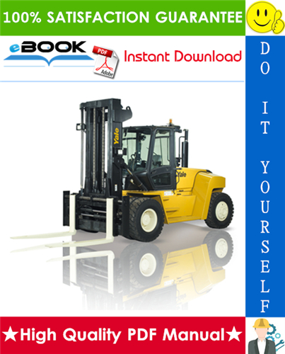 Thumbnail ☆☆ Best ☆☆ Yale GDP130EC, GDP140EC, GDP160EC Europe (F877) Forklift Trucks Service Repair Manual