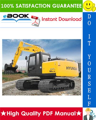 Thumbnail ☆☆ Best ☆☆ Hyundai R180LC-7A Crawler Excavator Service Repair Manual