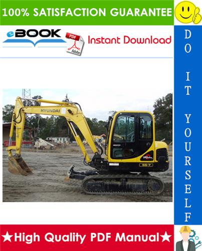 Thumbnail ☆☆ Best ☆☆ Hyundai R55-7 Crawler Excavator Service Repair Manual