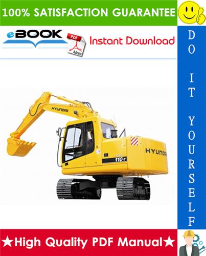 Thumbnail ☆☆ Best ☆☆ Hyundai R110-7(india) Crawler Excavator Service Repair Manual