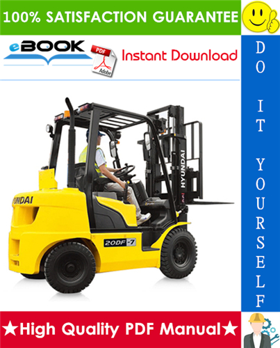 Thumbnail ☆☆ Best ☆☆ Hyundai 20DF-7T, 25DF-7T, 30DF-7T, 33DF-7T Forklift Trucks Service Repair Manual