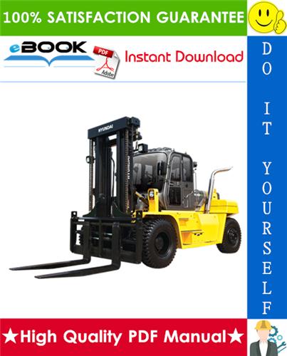 Thumbnail ☆☆ Best ☆☆ Hyundai 110D-7E, 130D-7E, 140D-7E, 160D-7E Forklift Trucks Service Repair Manual