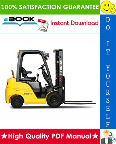 Thumbnail ☆☆ Best ☆☆ Hyundai 15D-9, 18D-9, 20D-9 Forklift Trucks Service Repair Manual
