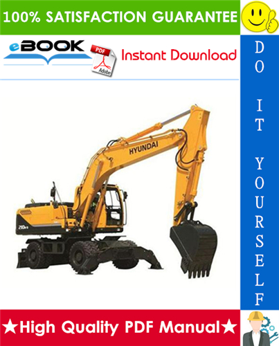 Thumbnail ☆☆ Best ☆☆ Hyundai R210W-9 Wheel Excavator Service Repair Manual