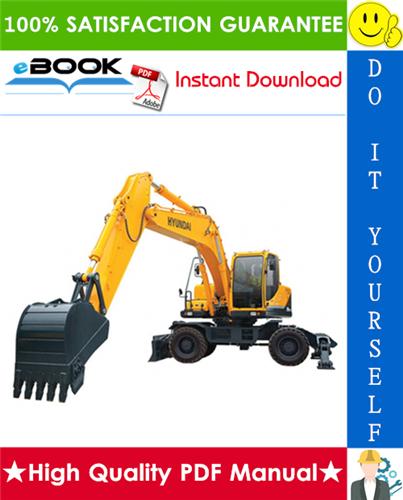 Thumbnail ☆☆ Best ☆☆ Hyundai R210W-9S Wheel Excavator Service Repair Manual