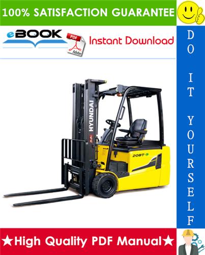 Thumbnail ☆☆ Best ☆☆ Hyundai 15BCS-9, 18BCS-9, 20BCS-9 Forklift Trucks Service Repair Manual