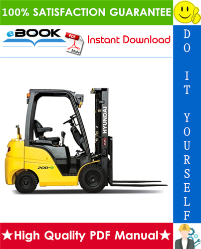 Thumbnail ☆☆ Best ☆☆ Hyundai 15D-9S, 18D-9S, 20D-9S Forklift Trucks Service Repair Manual