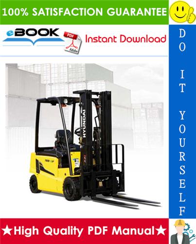 Thumbnail ☆☆ Best ☆☆ Hyundai 16B-9F, 18B-9F, 20B-9F Forklift Trucks Service Repair Manual