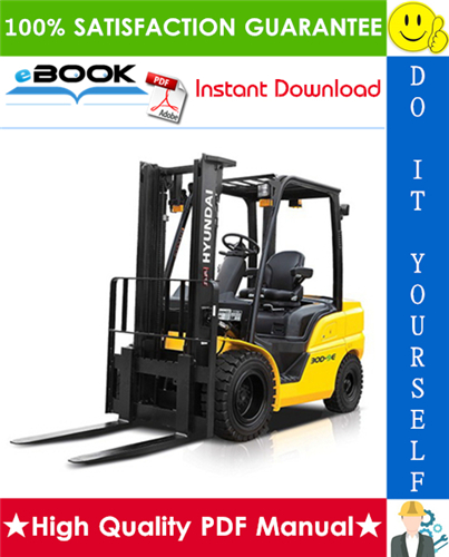 Thumbnail ☆☆ Best ☆☆ Hyundai 22D-9E, 25D-9E, 30D-9E, 33D-9E Forklift Trucks Service Repair Manual
