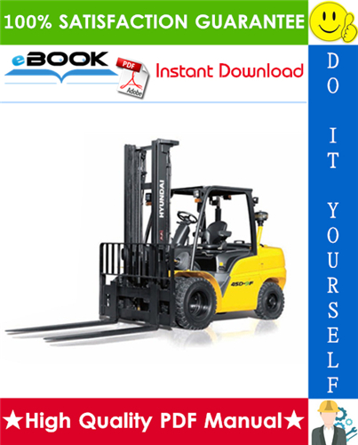 Thumbnail ☆☆ Best ☆☆ Hyundai 35D-9F, 40D-9F, 45D-9F, 50DA-9F Forklift Trucks Service Repair Manual