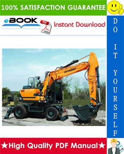 Thumbnail ☆☆ Best ☆☆ Hyundai HW160, HW180 Wheeled Excavator Service Repair Manual