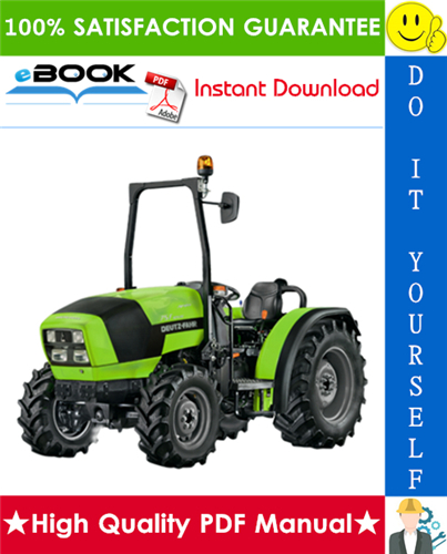 Thumbnail ☆☆ Best ☆☆ Deutz-Fahr Agrolux F50, F60, F70, F80 Tractor Service Repair Manual