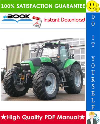 Thumbnail ☆☆ Best ☆☆ Deutz-Fahr Agrotron 210, 235, 265 Tractor Service Repair Manual