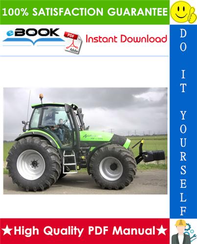 Thumbnail ☆☆ Best ☆☆ Deutz-Fahr Agrotron TTV 1145, TTV 1160, TTV 1130  2000 Tractor Service Repair Manual