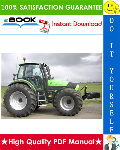 Thumbnail ☆☆ Best ☆☆ Deutz-Fahr Agrotron TTV 1145, TTV 1160, TTV 1130 Tractor Service Repair Manual