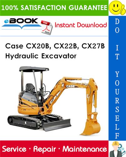 Thumbnail ☆☆ Best ☆☆ Case CX20B, CX22B, CX27B Hydraulic Excavator Service Repair Manual