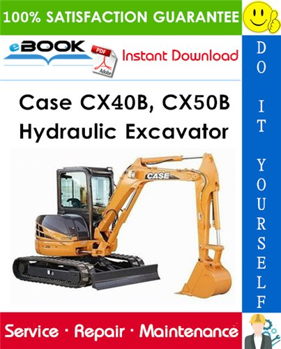 Thumbnail ☆☆ Best ☆☆ Case CX40B, CX50B Hydraulic Excavator Service Repair Manual