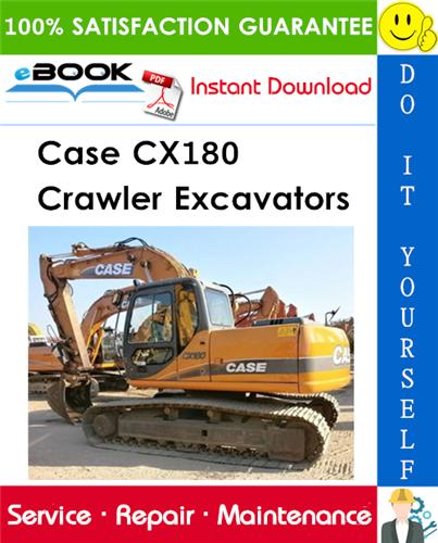 Thumbnail ☆☆ Best ☆☆ Case CX180 Crawler Excavators Service Repair Manual