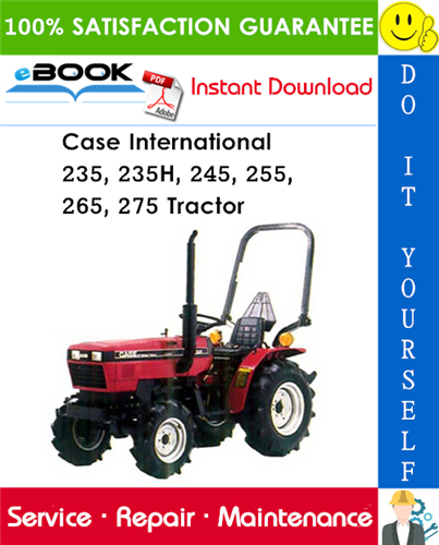 Thumbnail ☆☆ Best ☆☆ Case International 235, 235H, 245, 255, 265, 275 Tractor Service Repair Manual