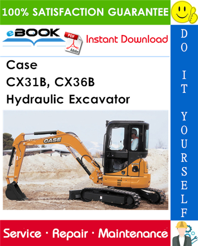 Thumbnail ☆☆ Best ☆☆ Case CX31B, CX36B Hydraulic Excavator Service Repair Manual