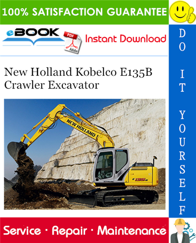 Thumbnail ☆☆ Best ☆☆ New Holland Kobelco E135B Crawler Excavator Service Repair Manual